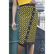 nika faux wrap skirt