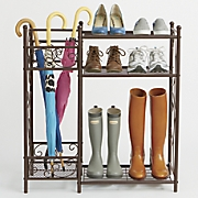 scroll shoe stand