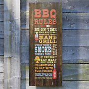 bbq words sign