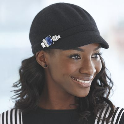 Jeweled Newsboy Cap