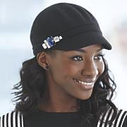 jeweled newsboy cap
