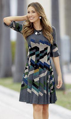 Zigzag Flare Dress