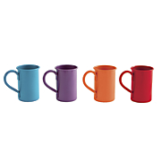 set of 4 assorted aluminum mugs