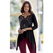 alena embroidered tunic