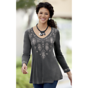 embroidered vivianna west top