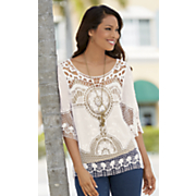 lace medallion top 1