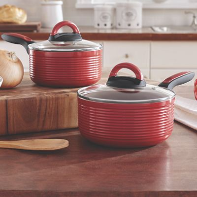 Ribbed 4-Piece Saucepan Set by Ginny's