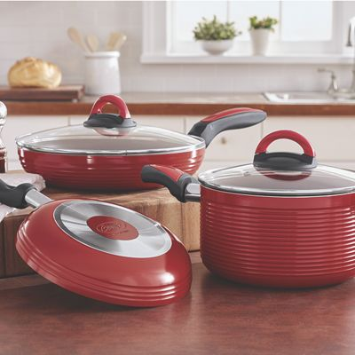 Ribbed 5-Piece Fry Pan & Casserole Set by Ginny's