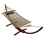 caribbean style hammock with pillow and stand