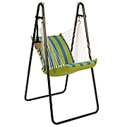 deluxe cushioned swing chair with stand