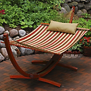 quilted hammock with arc stand   pillow