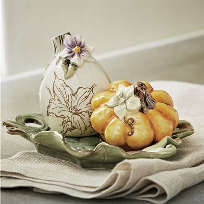 Gourd Salt and Pepper Set by Fitz and Floyd