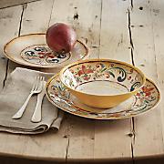 12 pc  orange round dinnerware set