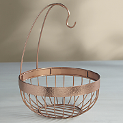 hammered penny copper fruit stand