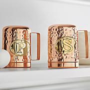 hammered copper finish jumbo salt   pepper shakers