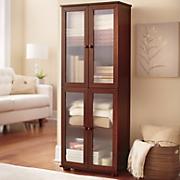 reeded glass 4 door cabinet