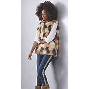 gwen faux fur vest and tamera straight leg jean