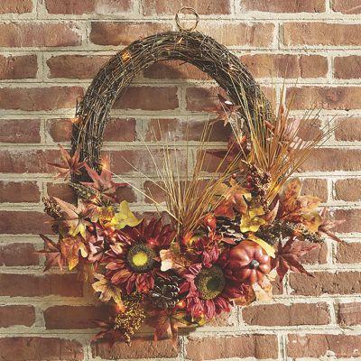 Sunflower Maple Wreath