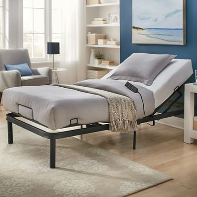 Adjustable Bed Frame & XL Twin Mattress