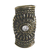 crystal medallion stretch ring
