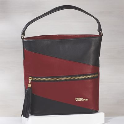 Colorblock Hobo Bag by Sophia Visconti