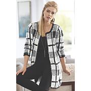blair black white colorblock sweater jacket