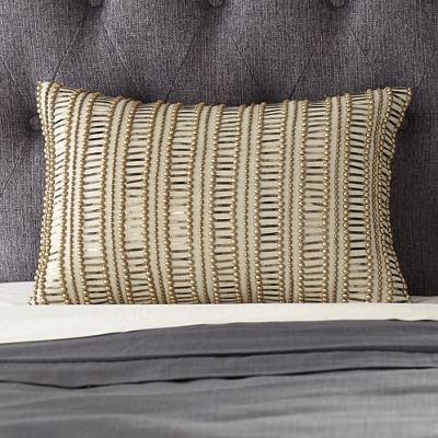 Metallic Beaded Pillow
