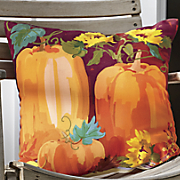 pumpkins and sunflowers pillow