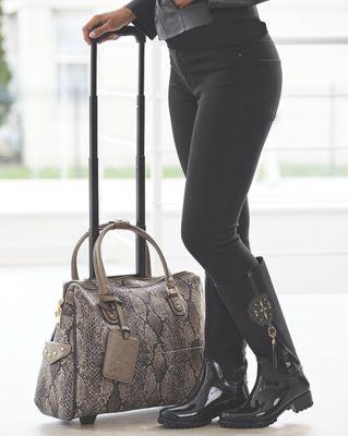 Faux Reptile Roller Bag