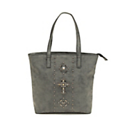 studded cross tote