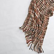 tweed knit throw