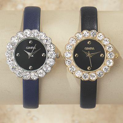 Crystal/Strap Watch