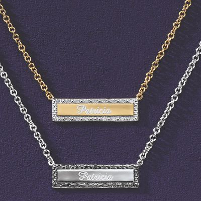 Diamond Accent Name Necklace