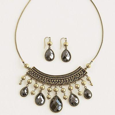 Teardrop Necklace/Earring Set