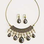 teardrop necklace earring set WA