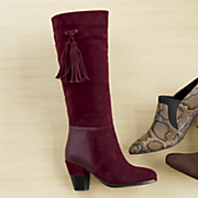 side tassel boot