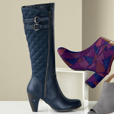 Quilted Buckle Tall Boot