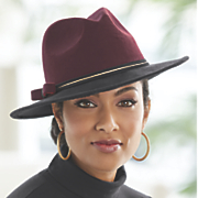 two toned wide brimmed hat