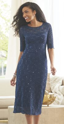 Lydia Sequin Lace Dress