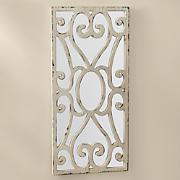 distressed panel mirror