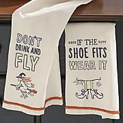 halloween humor towel set