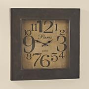 square burlap clock