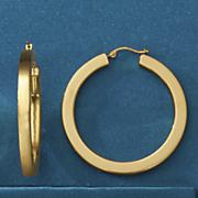 14k gold nano diamond resin large hoops