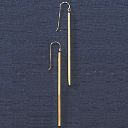 10k gold long stick earrings