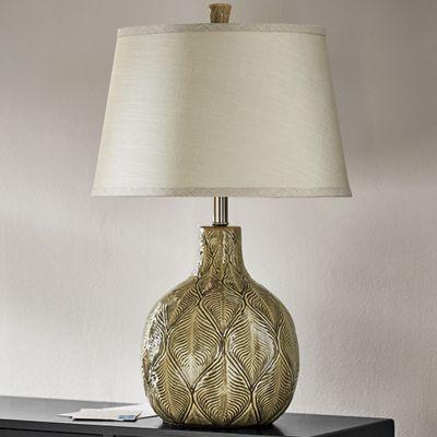 Gray Leaf Lamp