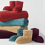 ultraplush throw and bootie set