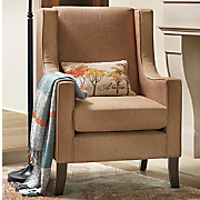 mocha wingback chair