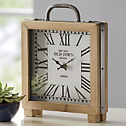 wooden table clock