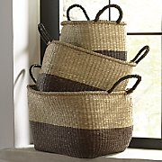 set of 3 two tone baskets