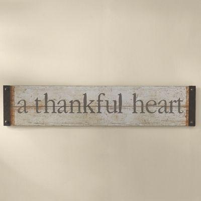 Thankful Heart Sign